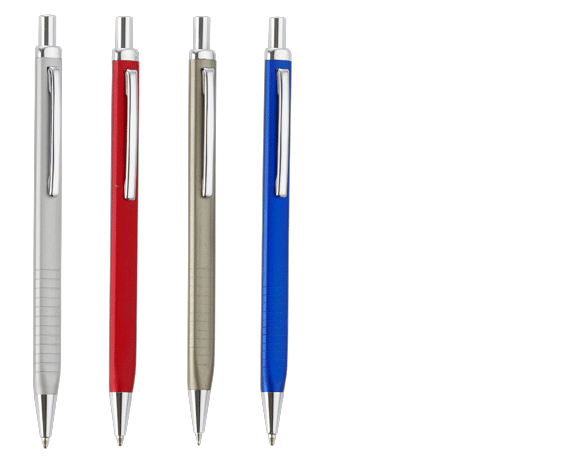 Retractable Metal Ballpoint Pen Slim And Traingle In Shape